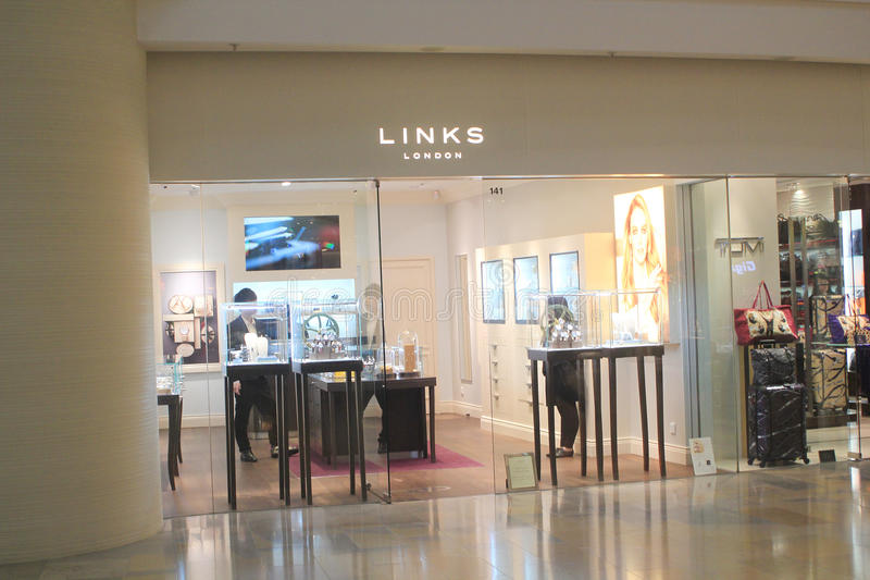 Links shop in Hong Kong. Links shop, located in Pacific Place, Hong Kong. Links is a watches retailer in Hong Kong stock image