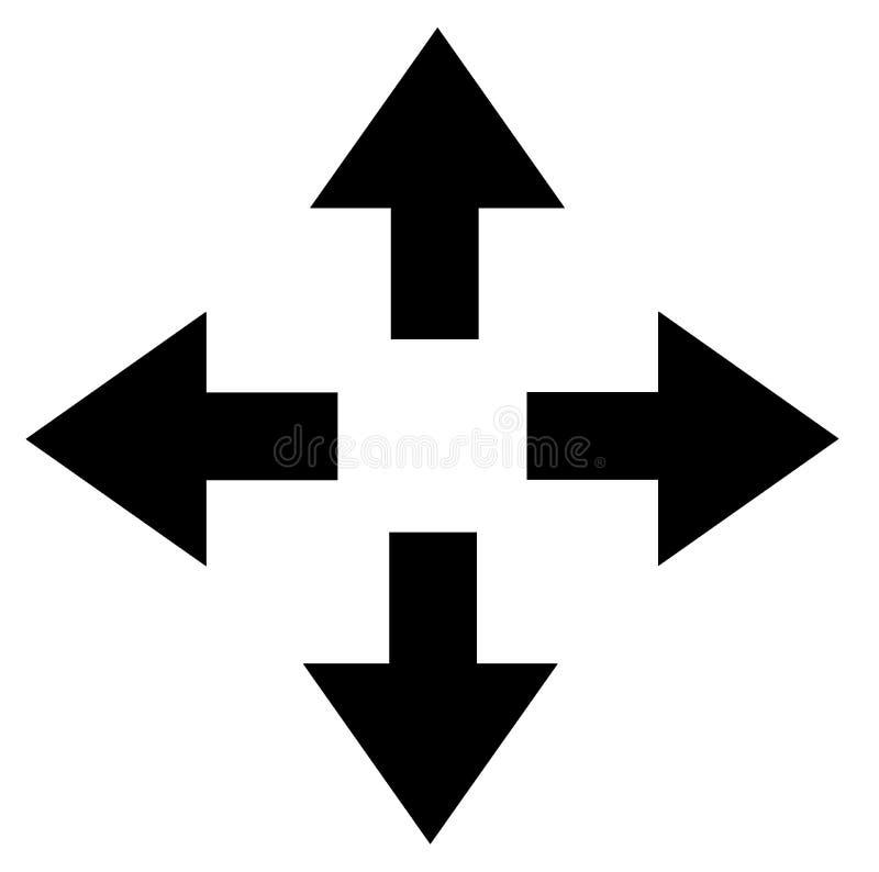 Linksrechtsspitze schwärzen unten Pfeilillustrationsgraphiken vektor abbildung