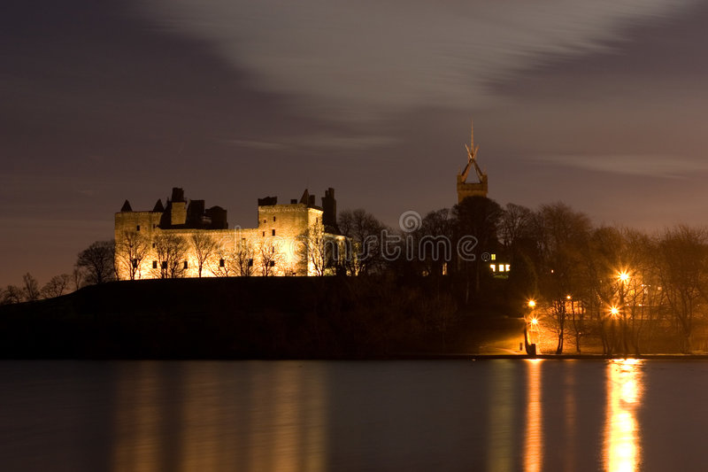 Download Linlithgow Palace and Loch stock photo. Image of mary - 2676902