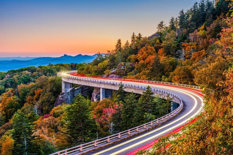 Linn Cove Viaduct fotografia de stock