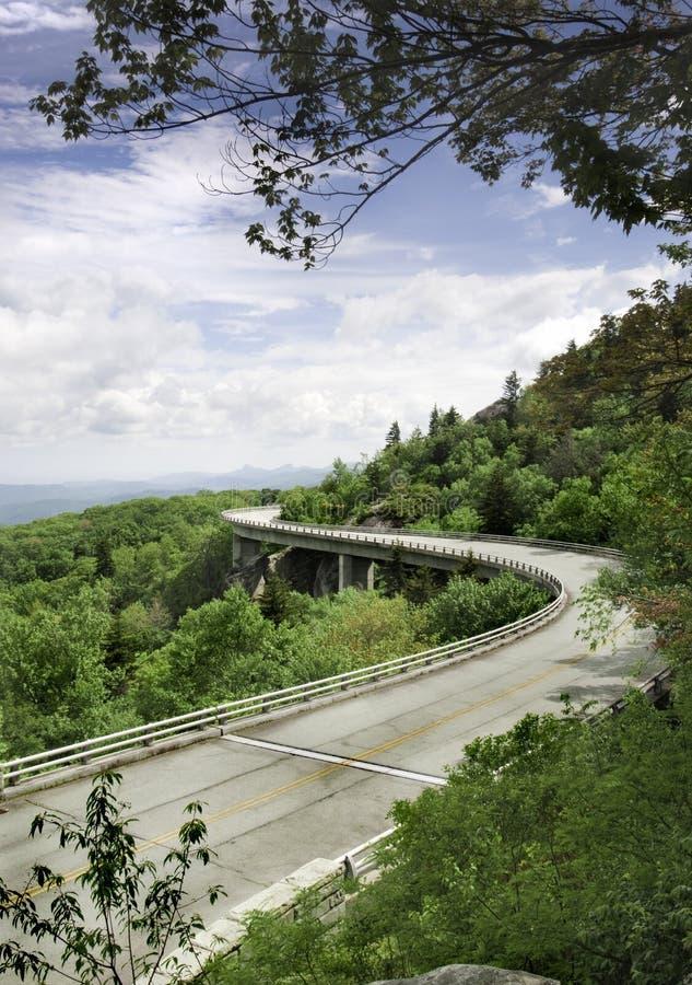 Linn Cove Viaduct. The Linn Cove Viaduct. Part of the Blue Ridge Parkway near Grandfather Mountain, North Carolina royalty free stock photos