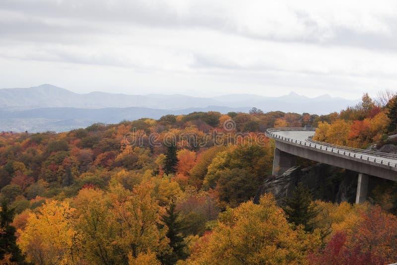 Linn Cove Viaduct Blue Ridge Parkway stock image