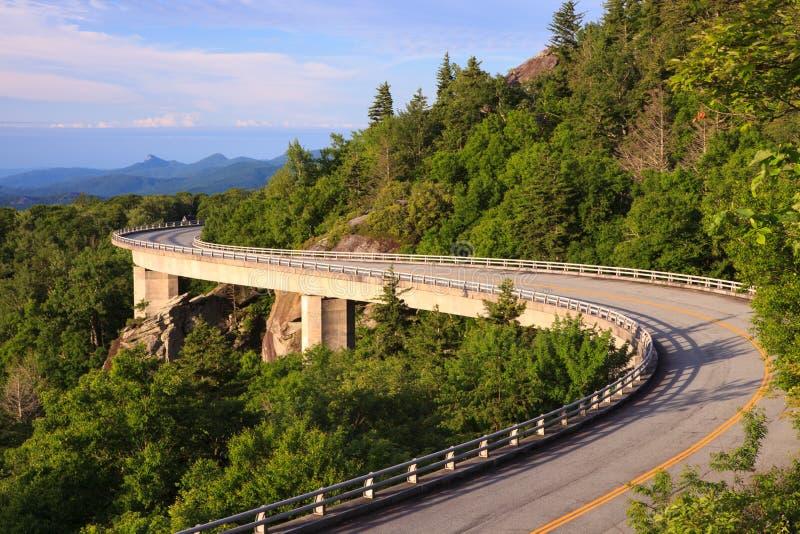Linn Cove Viaduct North Carolina lizenzfreies stockfoto