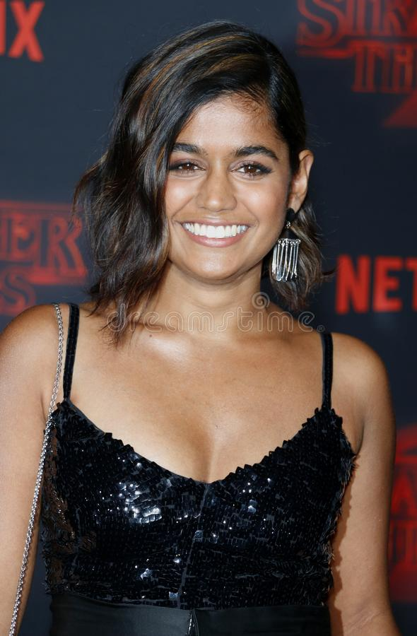 Linnea Berthelsen. At the Netflix`s season 2 premiere of `Stranger Things` held at the Regency Village Theatre in Westwood, USA on October 26, 2017 stock photography