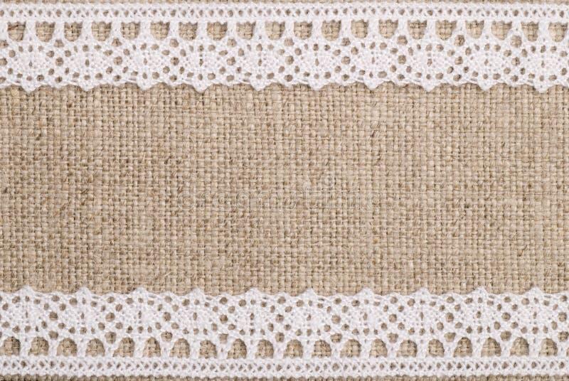 Linnen met Kant royalty-vrije stock afbeelding