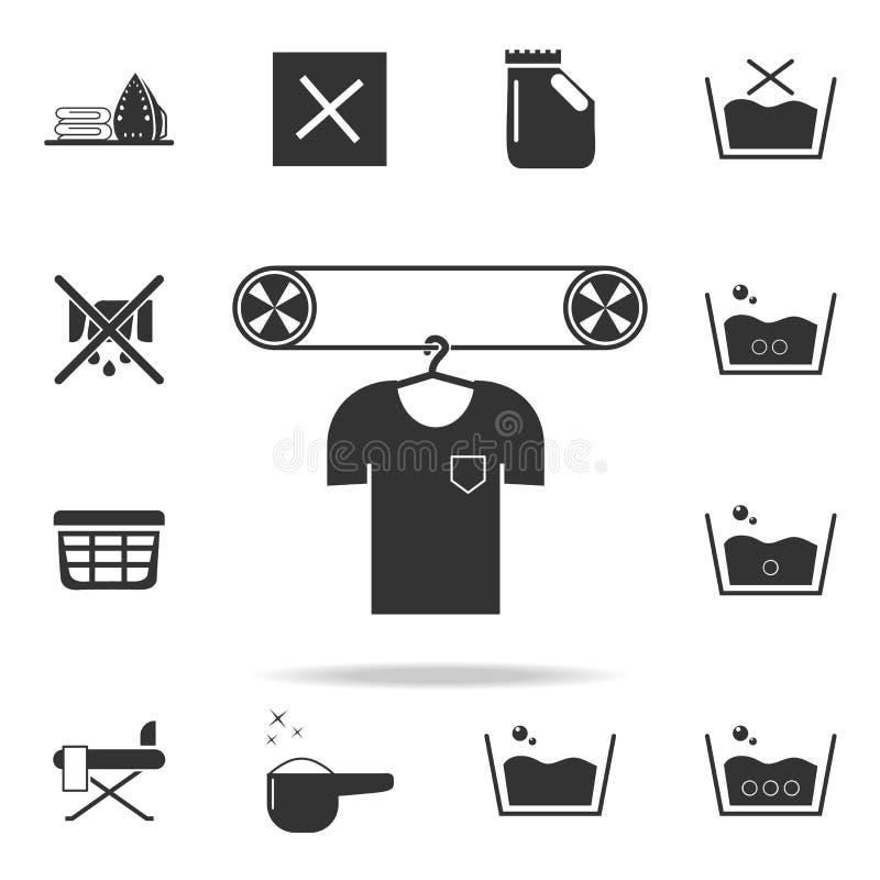 lino en icono de la limpieza en seco Sistema detallado de iconos del lavadero Diseño gráfico de la calidad superior Uno de los ic stock de ilustración