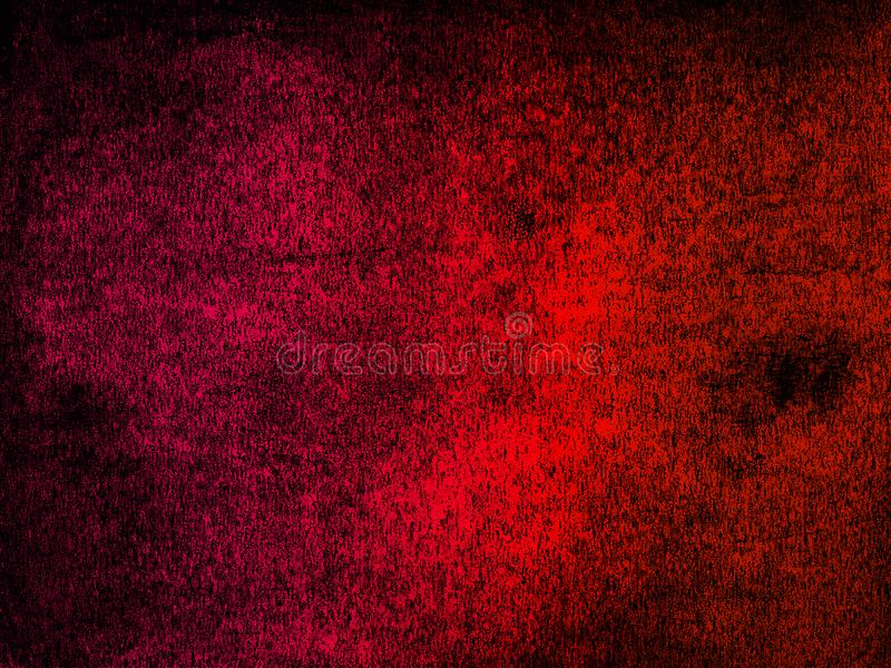 Lino two color, grunge, distressed background - magenta, black and red stock image