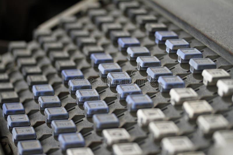 linotype πληκτρολογίων στοκ φωτογραφία