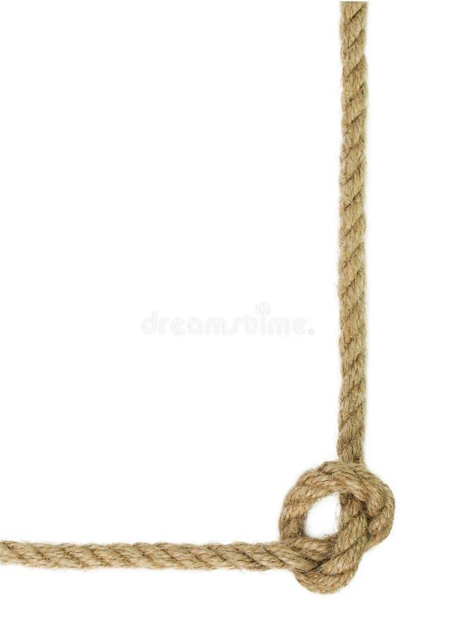 Linowy guzek odizolowywający na białym tle obraz royalty free
