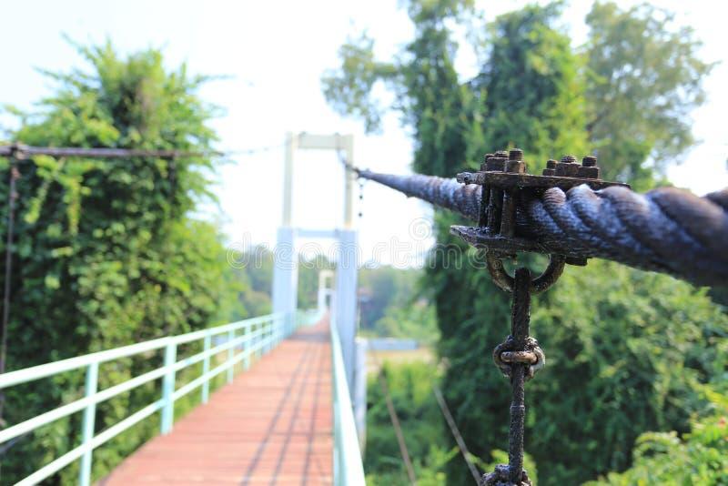Linowy most zdjęcia stock