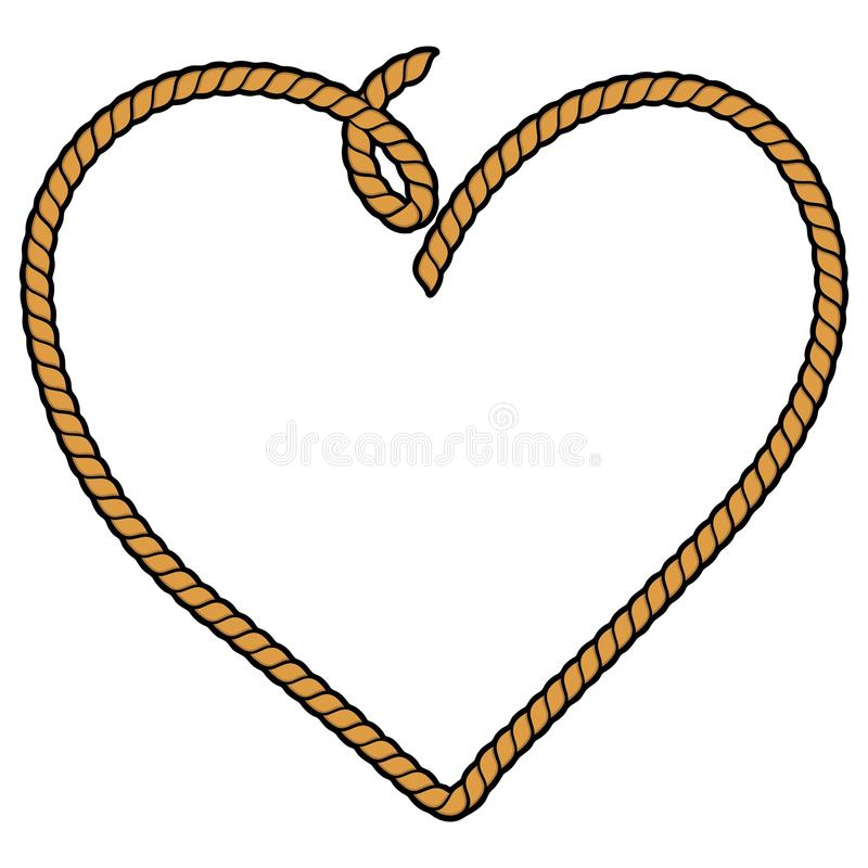 Linowy serce royalty ilustracja