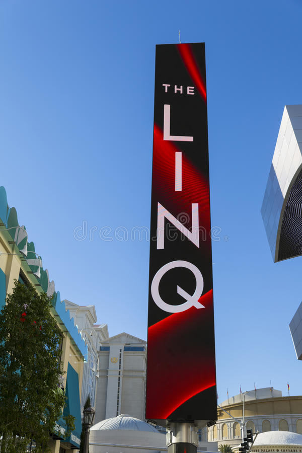 The Linq Corridor Sign In Las Vegas, NV On January 04, 2014 Editorial Image