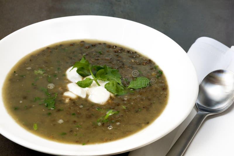 Linse-Suppe lizenzfreie stockbilder