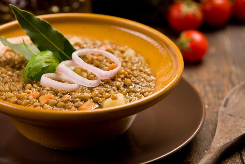 Linse-Suppe lizenzfreies stockbild