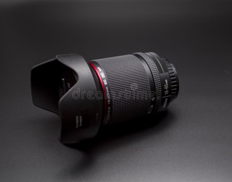 Linse WR Pentax 16-85 Millimeter lizenzfreies stockfoto