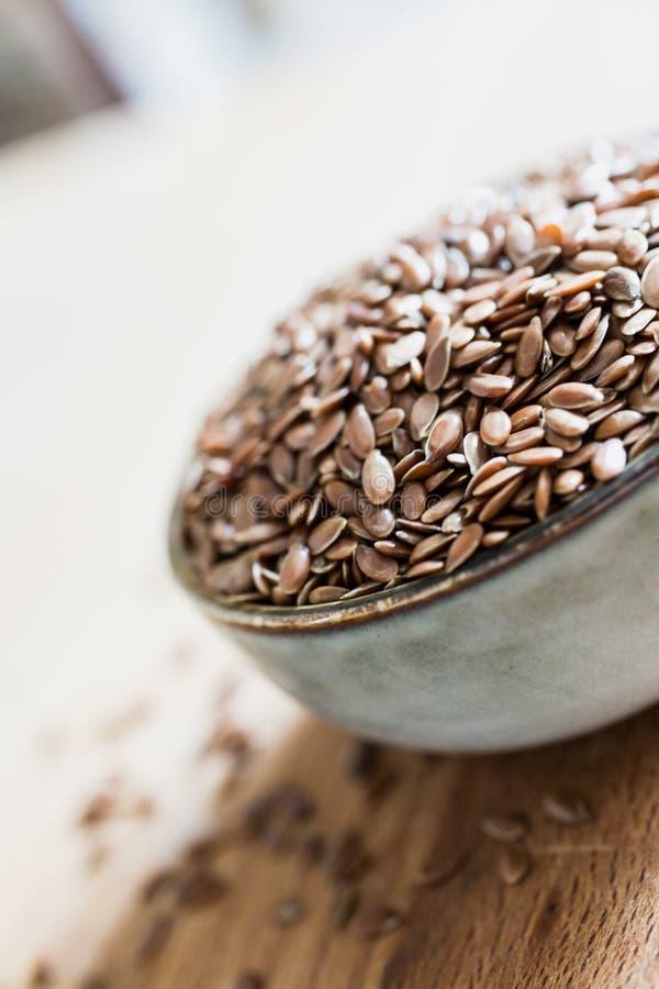 Linseed flaxseed adry zboża włókna organicznie jedzenie zdjęcie royalty free