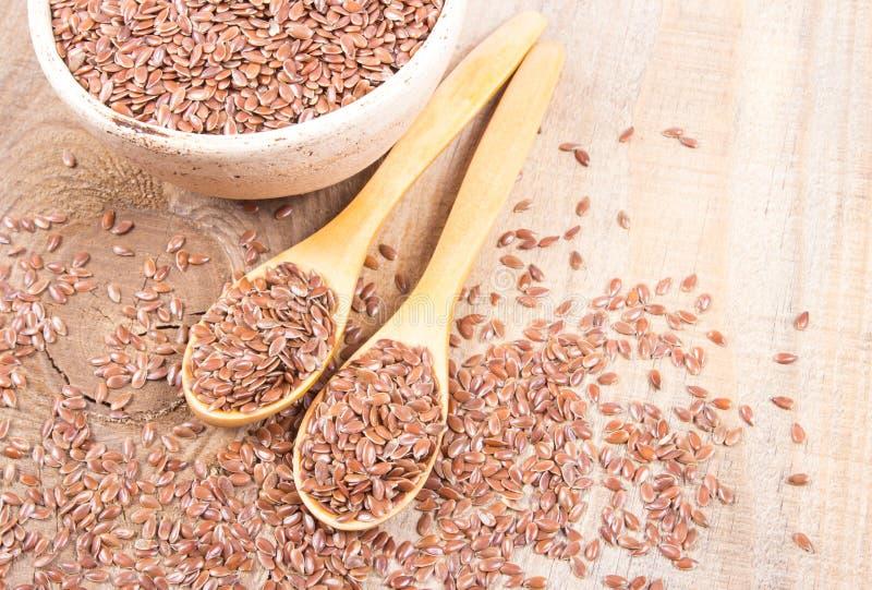 Linseed, lnów ziarna - pojęcie zdrowy odżywianie zdjęcia royalty free