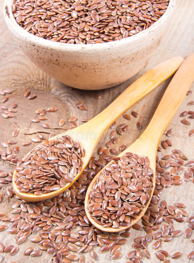 Linseed, lnów ziarna - pojęcie zdrowy odżywianie zdjęcia stock