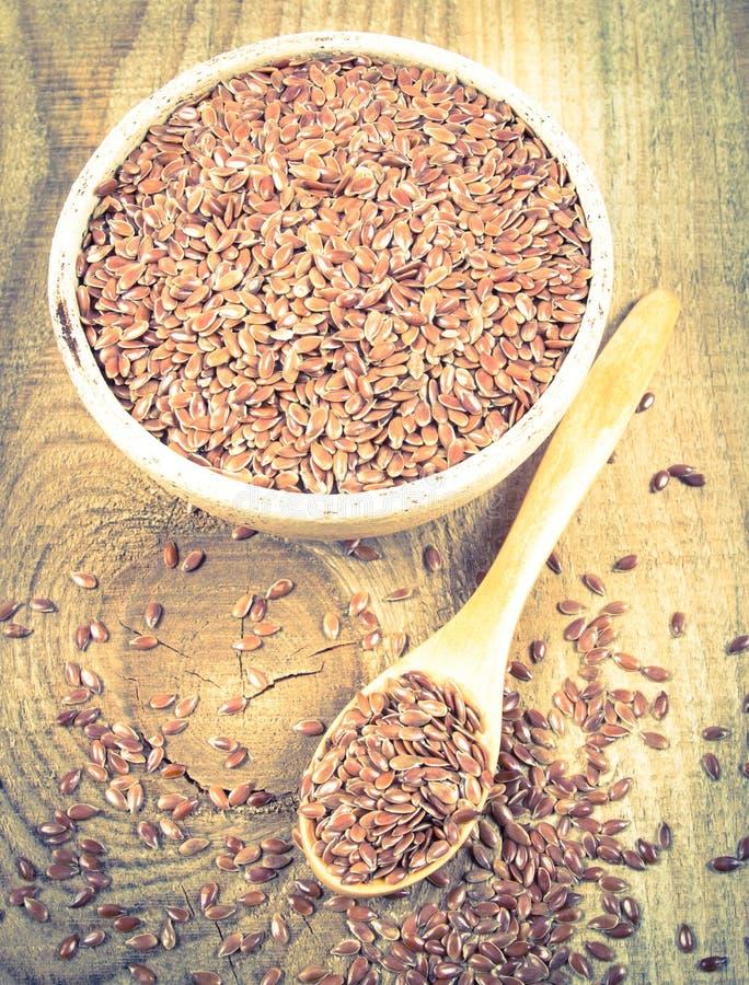 Linseed, lnów ziarna - pojęcie zdrowy odżywianie obraz royalty free