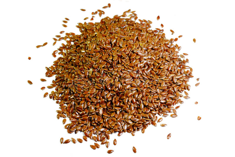 Linseed lub flaxseed fotografia stock