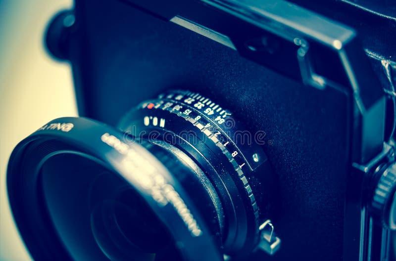 Linsenfaß der Ansichtkamera stockfoto