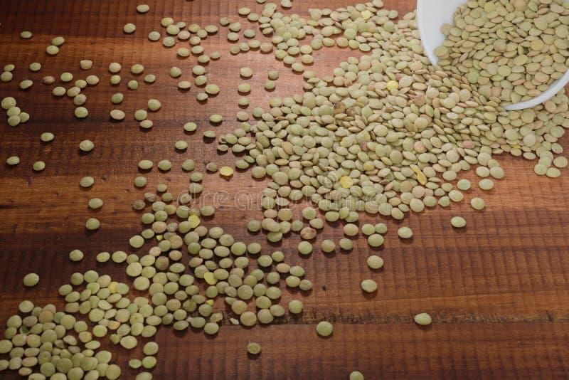 Linsenkörner, Quelle des Gemüseproteins und Aminosäuren, lizenzfreie stockbilder