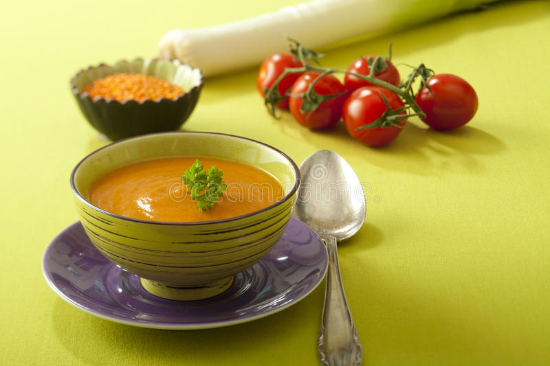 Linsesuppe stockfoto