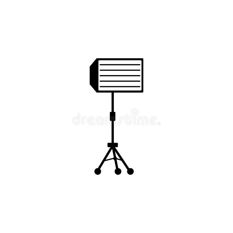 Linssymbol Beståndsdel av fotoutrustningsymboler Högvärdig kvalitets- symbol för grafisk design Tecken och symbolsamlingssymbol f royaltyfri illustrationer