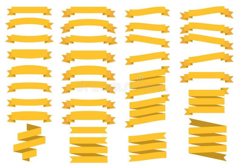 Lint gouden vectorpictogram op witte achtergrond Vlakke vectordielintenbanners vlak op witte achtergrond worden geïsoleerd Vector vector illustratie