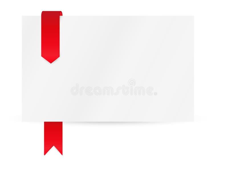 Lint of referentie met leeg document stock illustratie