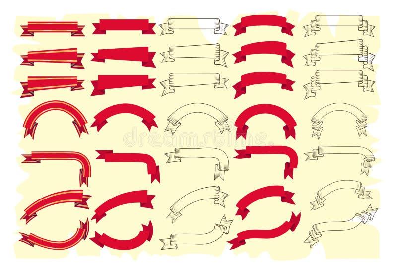Lint vectorreeks stock illustratie