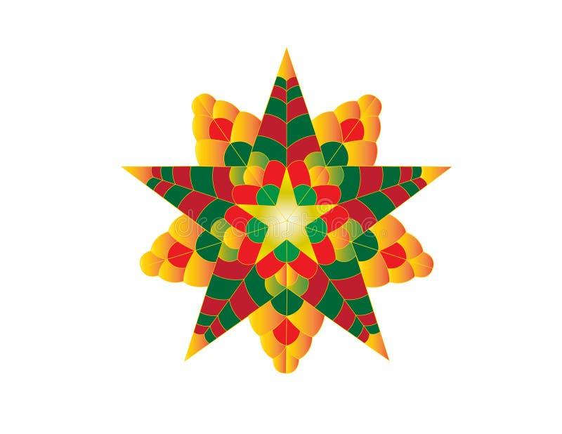 Linterna colorida de la Navidad foto de archivo