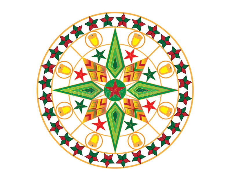 Linterna colorida de la Navidad imagenes de archivo