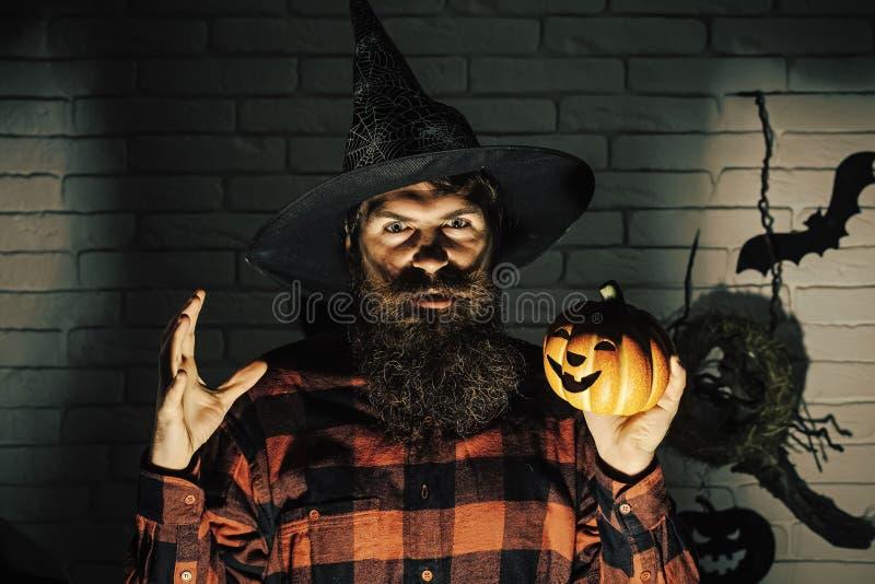 Linterna de Halloween Jack o imagen de archivo