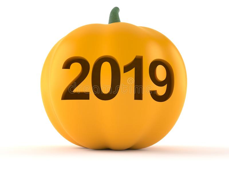 Linterna de Jack o 'con el número 2019 ilustración del vector