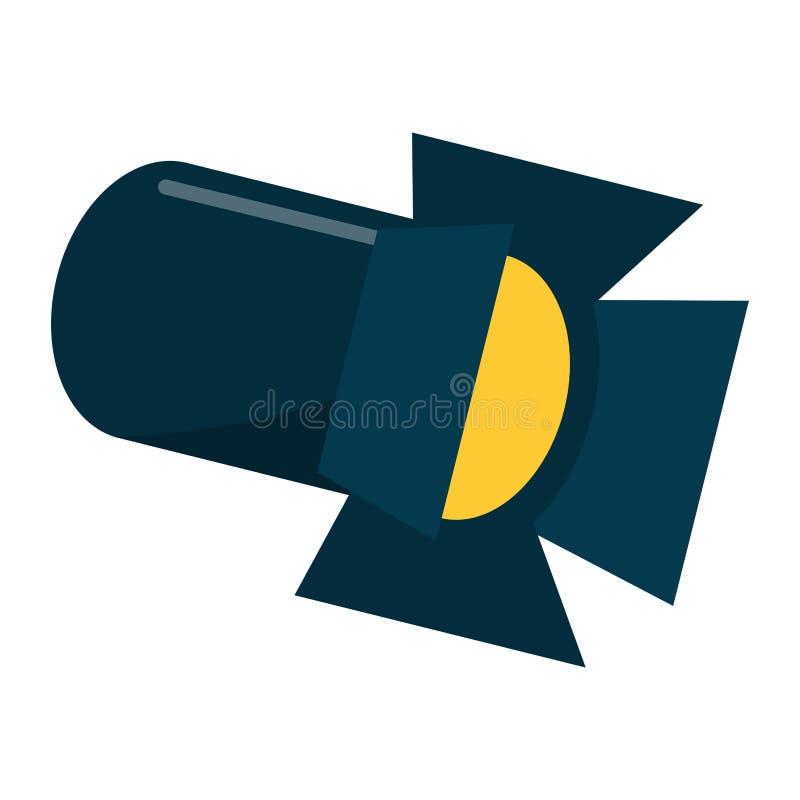 Linterna de la luz de la etapa ilustración del vector
