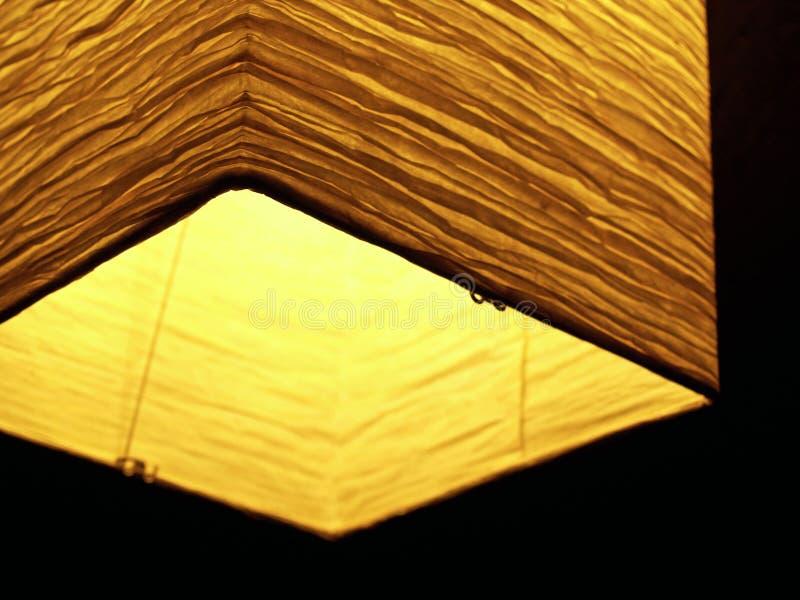Linterna de papel asiática, Brillante-encendida imagen de archivo libre de regalías