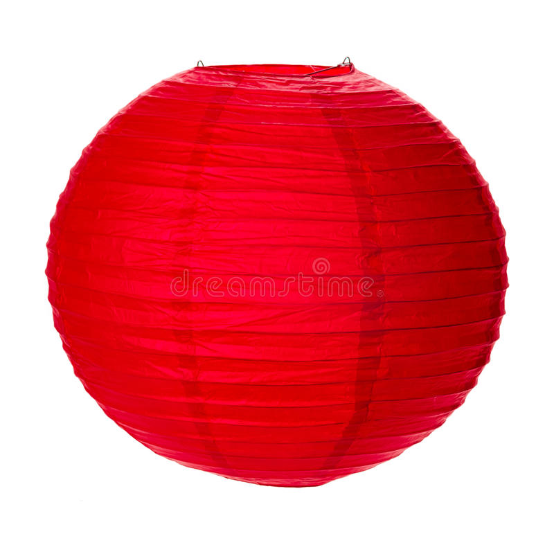 Linterna de papel roja imagen de archivo