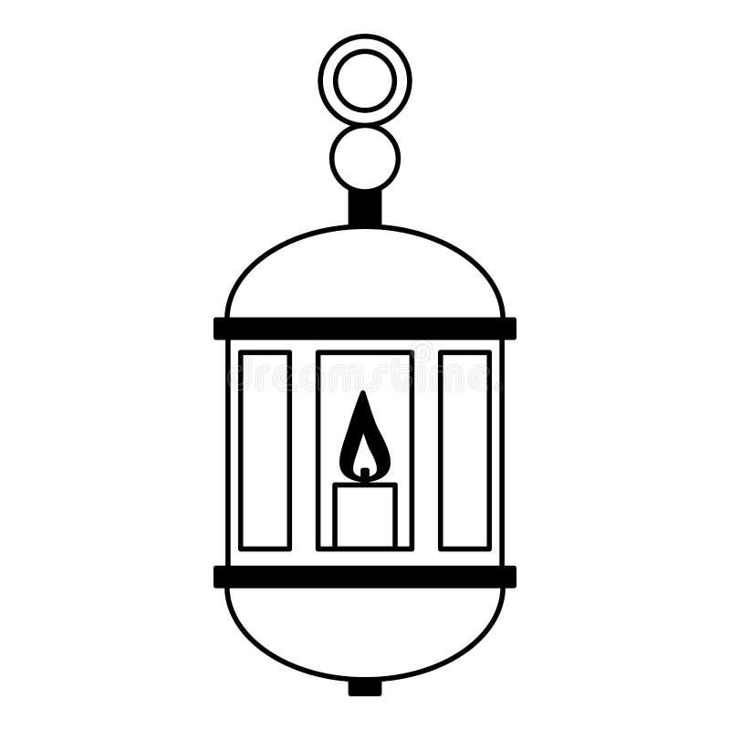 Linterna de Ramadan Kareem libre illustration