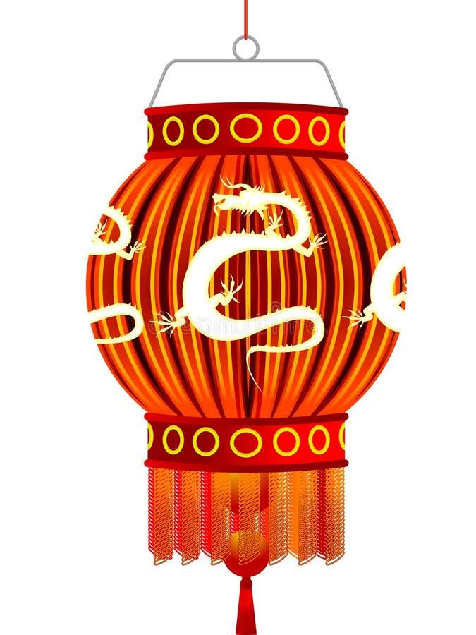 Linterna del chino tradicional ilustración del vector