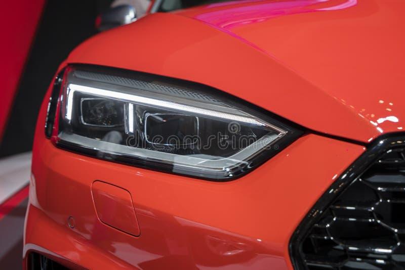 Linterna del nuevo coche de Audi RS fotografía de archivo