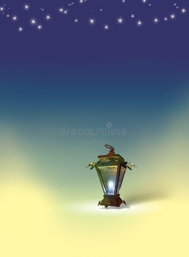 Linterna egipcia ilustración del vector