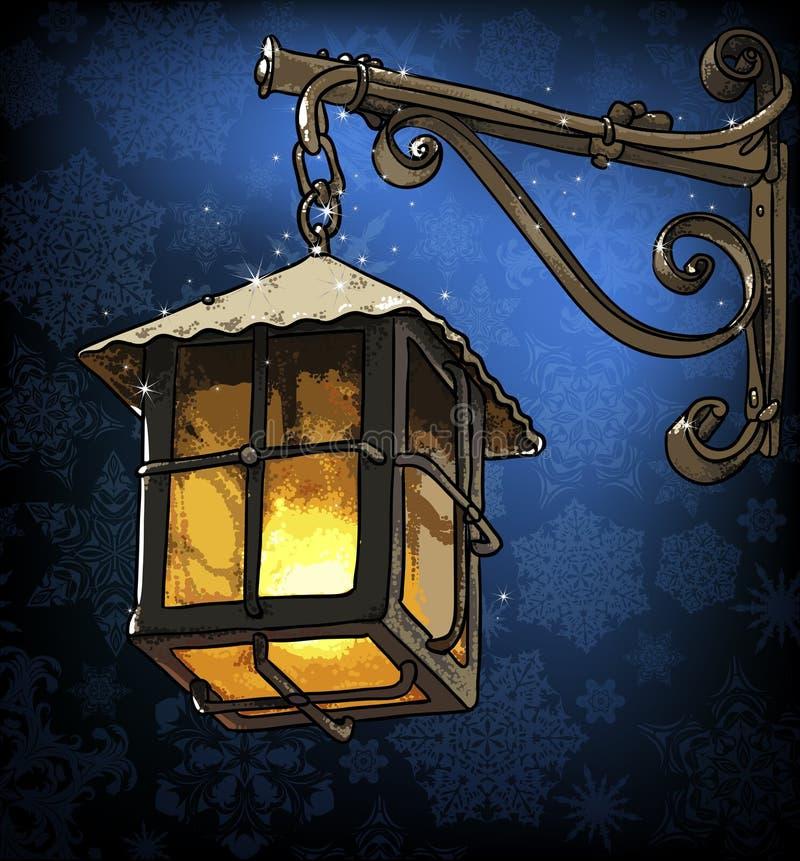 Download Linterna En La Noche Del Invierno Ilustración del Vector - Ilustración de fantasía, símbolo: 44852115