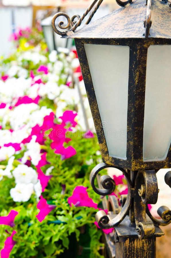 Linterna en un jardín fotos de archivo libres de regalías