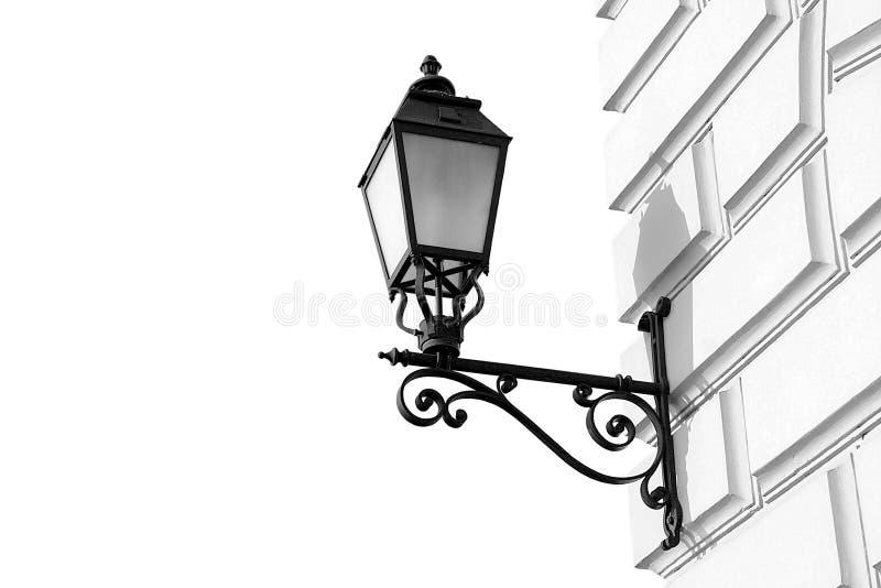 Linterna en una pared fotografía de archivo