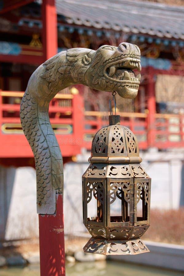 Linterna oriental en Corea del Sur imagen de archivo