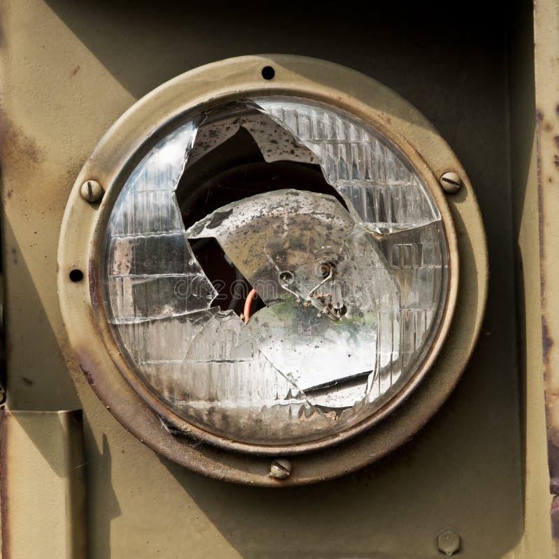 Linterna quebrada del coche fotos de archivo libres de regalías