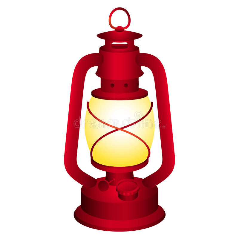 Linterna roja ilustración del vector