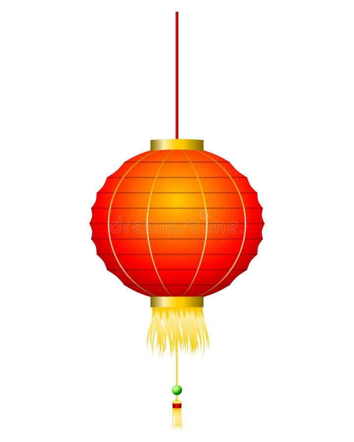 Linterna roja china en blanco libre illustration