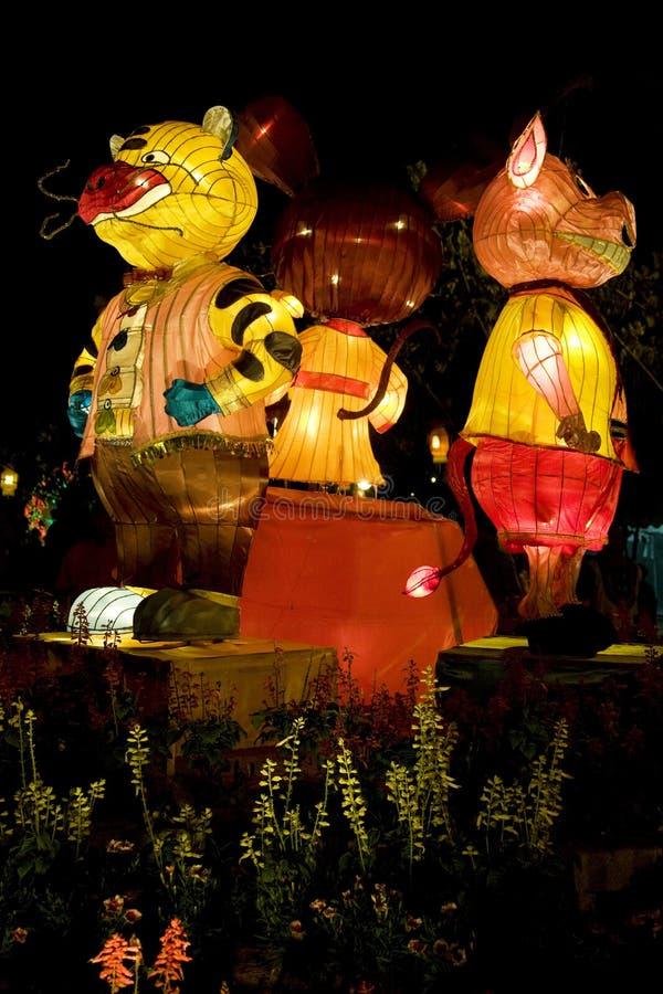 Linternas animales chinas del zodiaco fotos de archivo libres de regalías